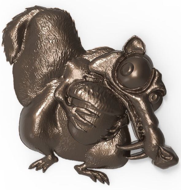 3DOcean Scrat Ice Age Squirrel bas relief for CNC 20815680
