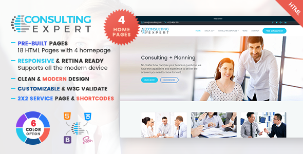 ThemeForest Consulting Expert A Consultancy Service & Consulting Business Template 20709469