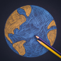 Planet Earth Drawn with Pencils - PhotoDune Item for Sale