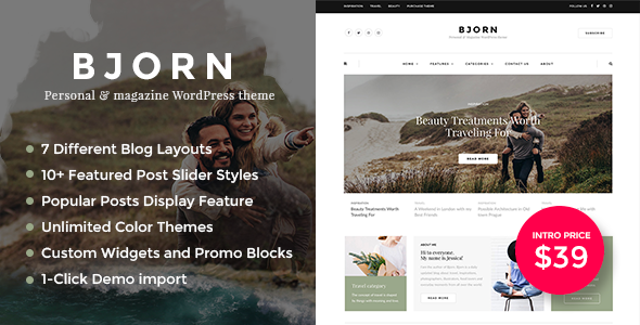 Image of Bjorn - Personal WordPress Blog Theme