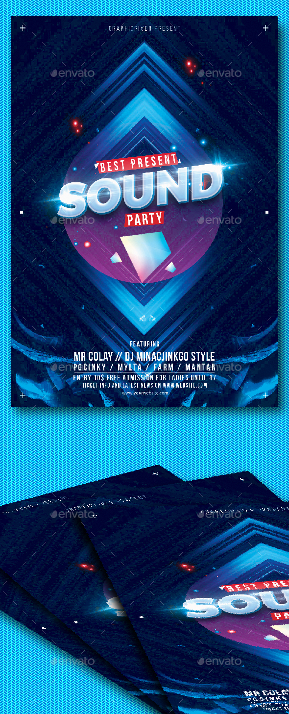 GraphicRiver Sound Party Flyer 20815958