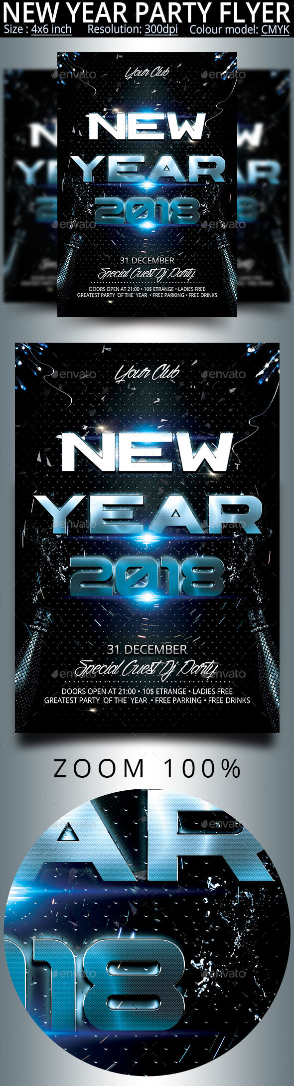 GraphicRiver New Year Party Flyer 20815978