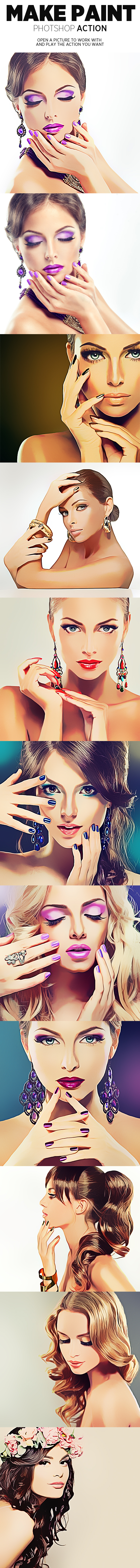 GraphicRiver Make Paint Photoshop Action 20816011