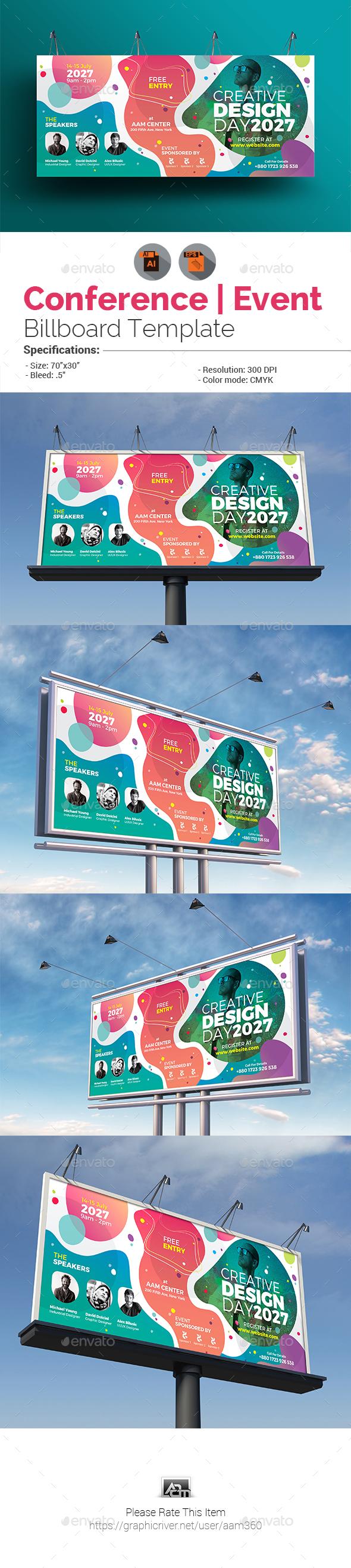 Conference / Event Billboard - Signage Print Templates