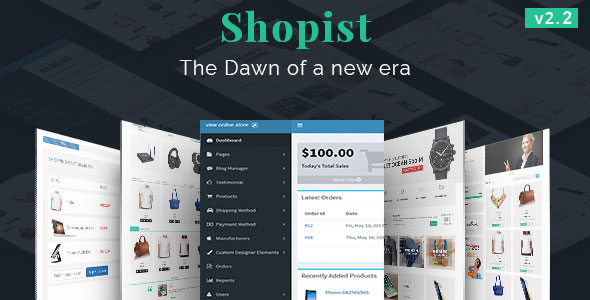Shopist | Laravel eCommerce and Designer - CodeCanyon Item for Sale