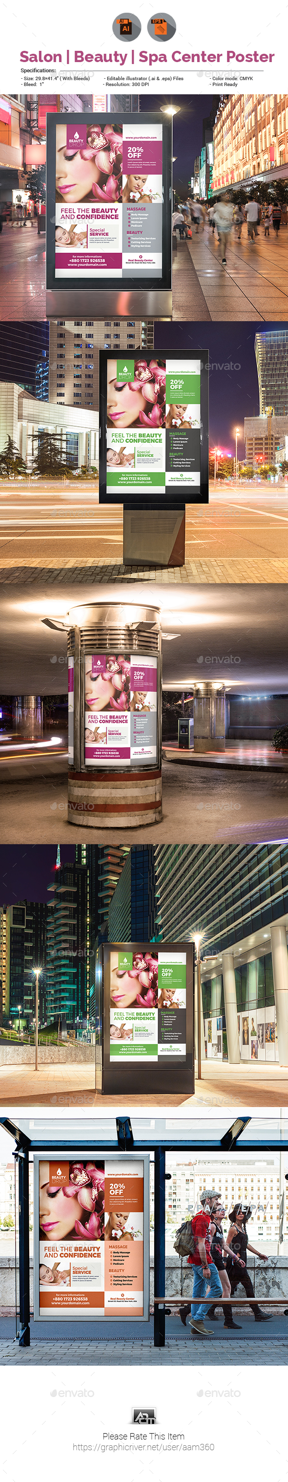 GraphicRiver Spa Beauty Care Poster Template 20816223