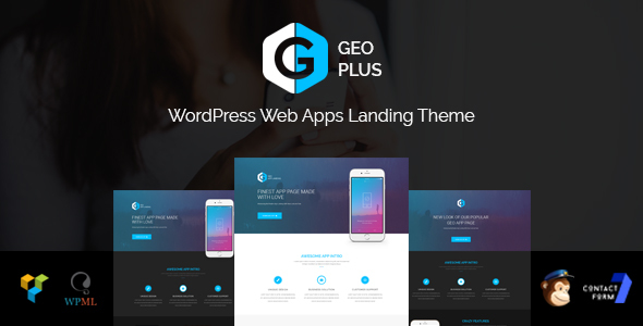 GEO Plus - WordPress Web App Landing Page Theme With Page Builder - Software Technology