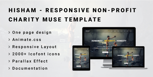 HISHAM - Responsive Non Profit/Charity Muse Template