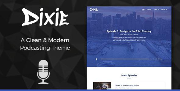 Image of Dixie - Podcast and Audio WordPress Theme