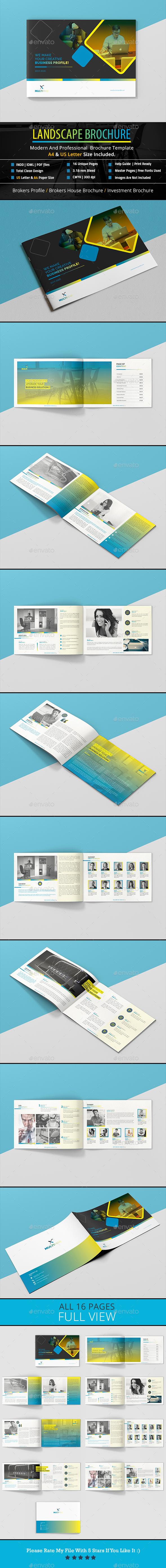 GraphicRiver Landscape Brochure A4 & US Letter 20816384