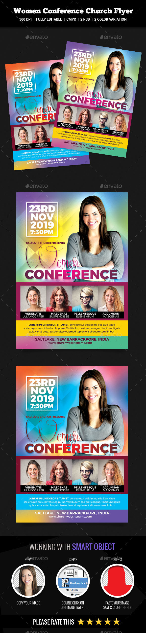 GraphicRiver Women Conference Church Flyer 20816424