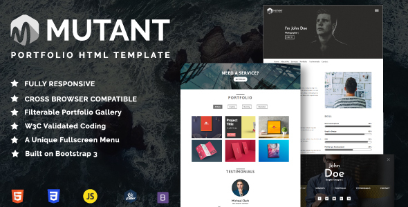 Download Free Mutant - Personal Portfolio HTML Template