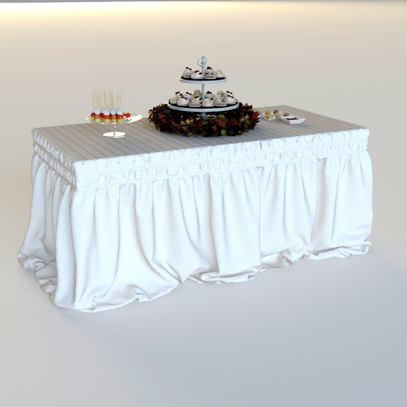 3DOcean drapery standing buffet table 20816812