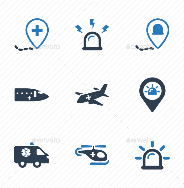 GraphicRiver Ambulance Icons 20817061