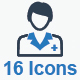 Doctor Icon Set - Blue Version - GraphicRiver Item for Sale