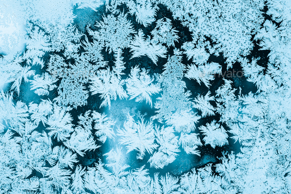 Frosty Glass Ice Background, Natural Pattern. Winter Abstract Ba - Stock Photo - Images