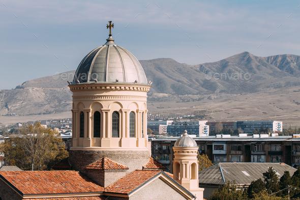 Gori, Shida Kartli Region, Georgia, Eurasia. Dome Of Cathedral O - Stock Photo - Images