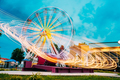 Motion Blurred Of High Speed Rotating Attraction Amusement Park. - PhotoDune Item for Sale