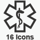 Healthcare Symbols - Gray Version