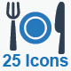 Restaurant Service Icons - Blue Version