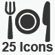 Restaurant Service Icons - Gray Version