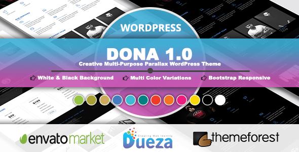 Image of DONA - Creative Multi-Purpose Parallax WordPress Theme