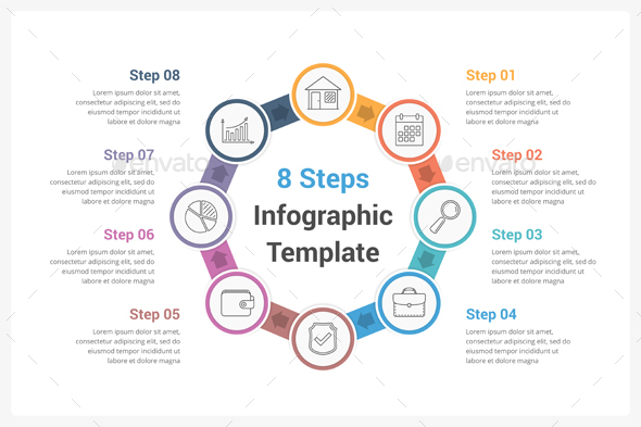 GraphicRiver Circle Infographics with Eight Steps 20817482