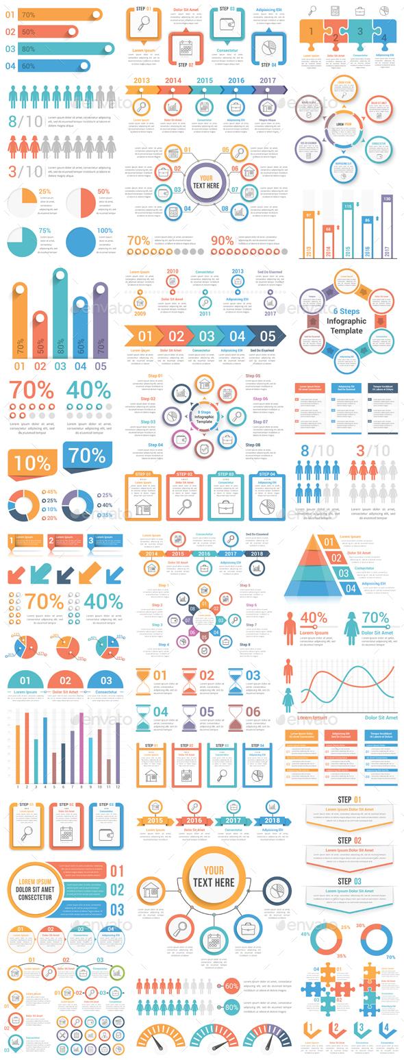 GraphicRiver Infographic Elements Bundle 20817522