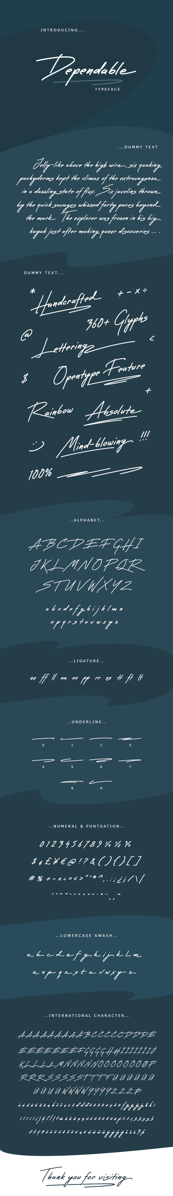 Dependable Font - Hand-writing Script