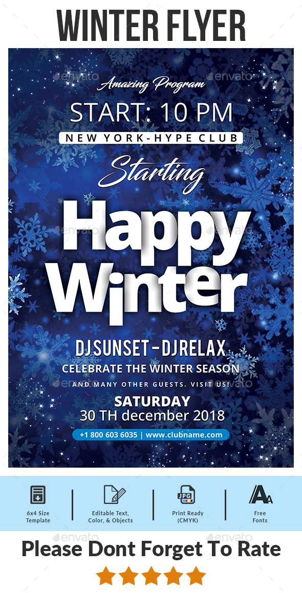 Winter Flyer - Events Flyers