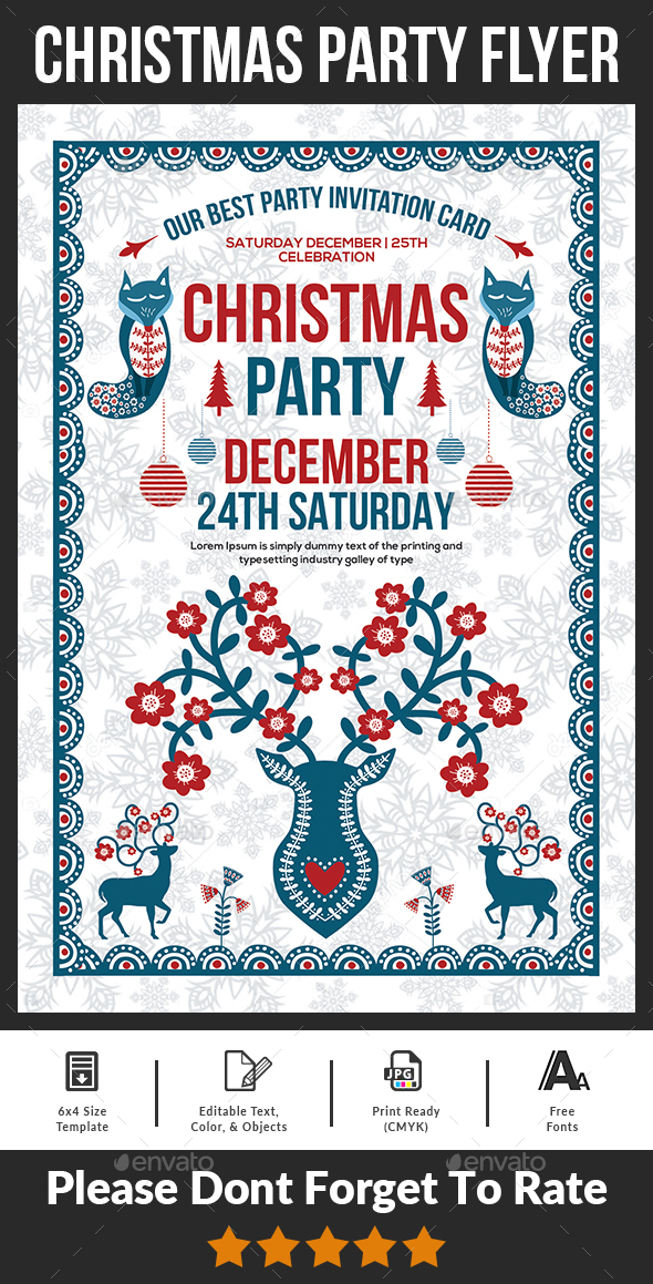 GraphicRiver Christmas Party Flyer Template 20817642