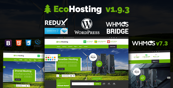 Image of EcoHosting | Responsive Hosting and WHMCS WordPress Theme