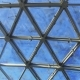 Glass Roof of Building with Views of the Sky