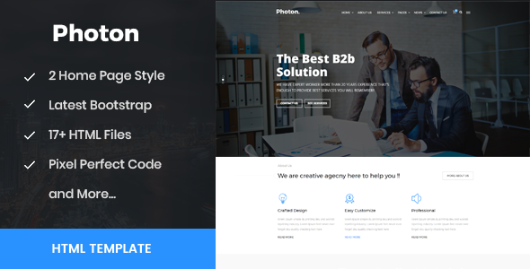 Photon -  Business, Training & Consulting HTML Template - Business Corporate