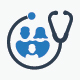 Family Healthcare Icon Set - Blue Version