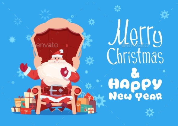 GraphicRiver Merry Christmas And Happy New Year Greeting Card 20818114
