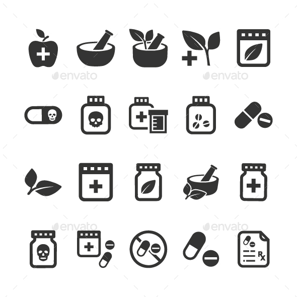 GraphicRiver Medication Icons 20818144