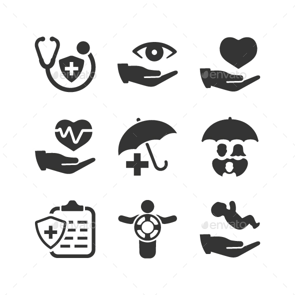 GraphicRiver Health Insurance Icons 20818171