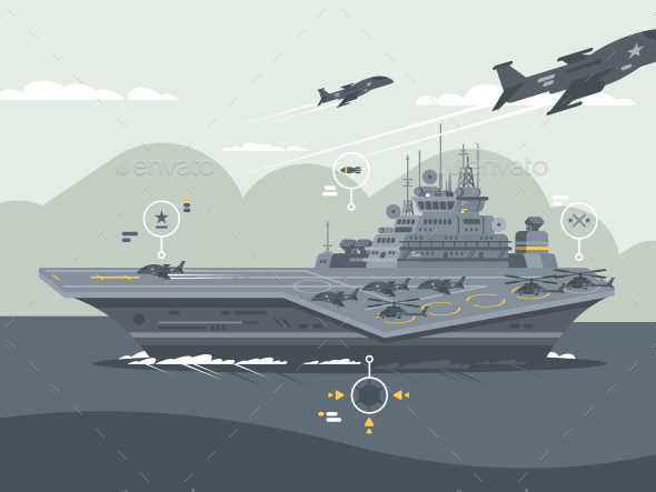 GraphicRiver Military Aircraft Carrier 20818275