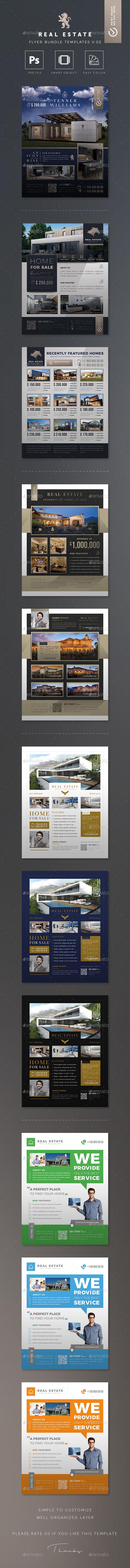 GraphicRiver Real Estate Flyer Bundle Templates v.03 20818314