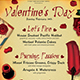 Valentines Day Menu Template V5 - GraphicRiver Item for Sale