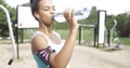Girl drinking after workout - PhotoDune Item for Sale