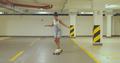 Girl skateboarding on parking - PhotoDune Item for Sale