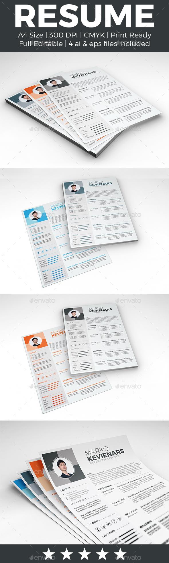 Resume - Stationery Print