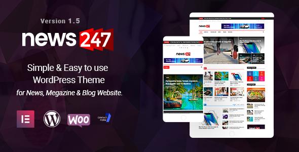 Image of News247 - News Magazine WordPress Theme