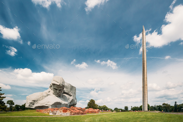 Brest, Belarus. Main Monument And Memorial Monument Bayonet - Ob - Stock Photo - Images