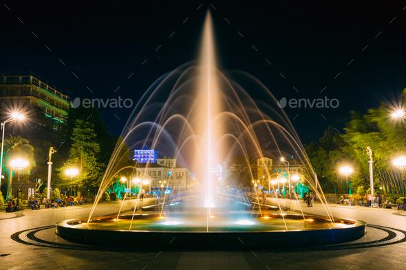 Batumi, Adjara, Georgia. Singing And Dancing Fountains Is Local - Stock Photo - Images