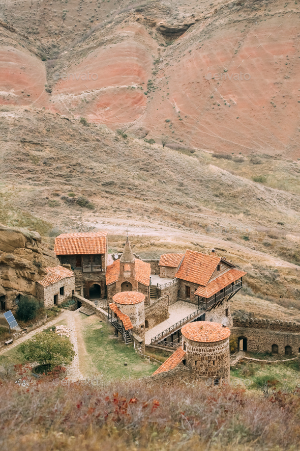 Kakheti Region, Georgia. Ancient Rock-hewn Georgian Orthodox Dav - Stock Photo - Images