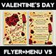 Valentines Day Flyer + Menu Bundle V5 - GraphicRiver Item for Sale