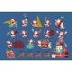 Set Of Santa Claus With Presents Merry Christmas